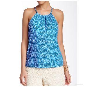 J McLaughlin Maria Halter Top in Catalina Cloth